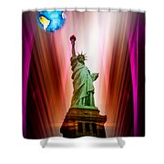 New York Nyc - Statue Of Liberty 2 Shower Curtain