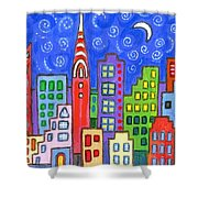 New York One Shower Curtain