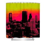 New York Pink Shower Curtain