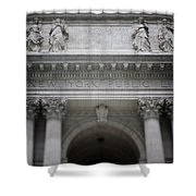 New York Public Library- Art By Linda Woods Shower Curtain
