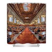 New York Public Library Main Reading Room I Shower Curtain