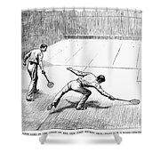New York: Racket Club Shower Curtain