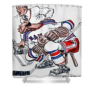 New York Rangers 1960 Program Shower Curtain