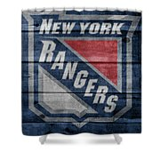 New York Rangers Barn Door Shower Curtain