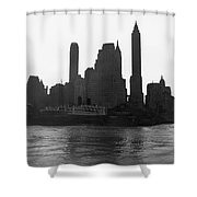 New York Silhouette At Dusk Shower Curtain