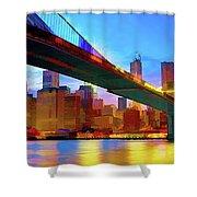 New York Skyline 11 Shower Curtain