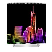 New York Skyline Shower Curtain by Aaron Berg