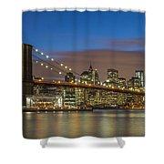 New York Skyline - Brooklyn Bridge - 4 Shower Curtain
