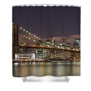 New York Skyline - Brooklyn Bridge - 6 Shower Curtain
