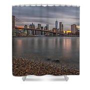 New York Skyline - Brooklyn Bridge - 9 Shower Curtain