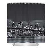 New York Skyline - Brooklyn Bridge Panorama - 4 Shower Curtain