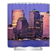 New York Skyline Shower Curtain