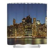 New York Skyline Panorama - 2 Shower Curtain