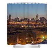 New York Skyline - Queensboro Bridge Shower Curtain
