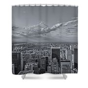 New York Skyline - View On Central Park - 2 Shower Curtain