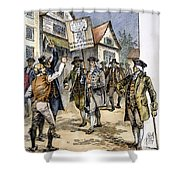 New York: Stamp Act , 1765 Shower Curtain