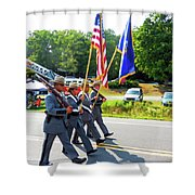 New York State Police Color Guard  6 Shower Curtain