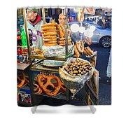 New York Street Vendor Shower Curtain