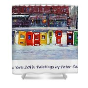 New York Streetscapes 2016 Shower Curtain