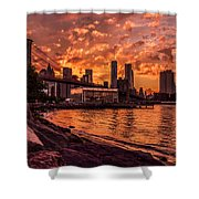 New York Sunset Shower Curtain