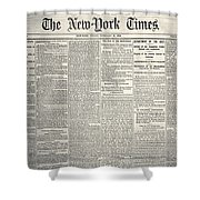 New York Times, 1864 Shower Curtain