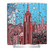 New York Urban Colors 2 Shower Curtain