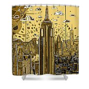 New York Urban Colors 3 Shower Curtain