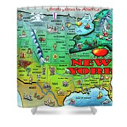 New York Usa Shower Curtain