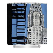 New York Watercolor 3 Shower Curtain