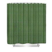New York - White On Green Background Shower Curtain