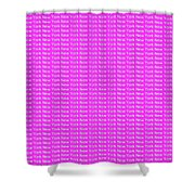 New York - White On Pink Background Shower Curtain