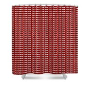 New York - White On Red Background Shower Curtain