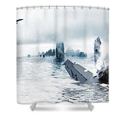 New York Winter Shower Curtain