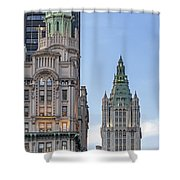 New York Woolworth Building  Shower Curtain