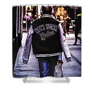 New York Yankees Baseball Jacket Shower Curtain