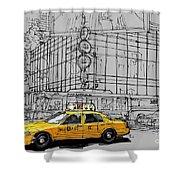 New York Yellow Cab Shower Curtain
