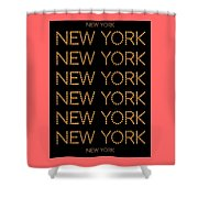 New York No 3  Shower Curtain