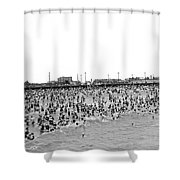 New Yorkers At Coney Island. Shower Curtain
