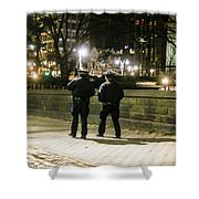 New Yorks Finest Walking The Beat Shower Curtain