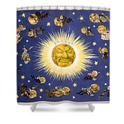 New York's New Solar System Vintage Poster 1898 Shower Curtain