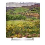 New Zealand Countryside Shower Curtain