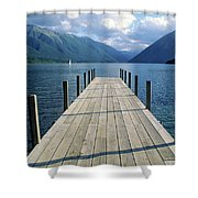 New Zealand Dock Shower Curtain