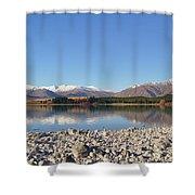 New Zealand Lake Shower Curtain