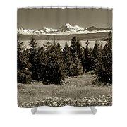 New Zealand Mountains Shower Curtain