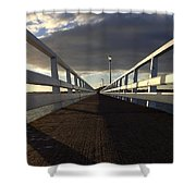 New Zealand - Orakei Wharf Shower Curtain