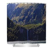 New Zealand Stirling Falls In Hanging Valley Shower Curtain