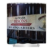 Newark Bisons Shower Curtain