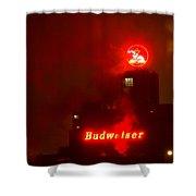 Newark Budweiser Shower Curtain