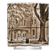 Newberry Opera House Newberry Sc Sepia Shower Curtain