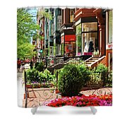 Newberry Street Spring Shower Curtain